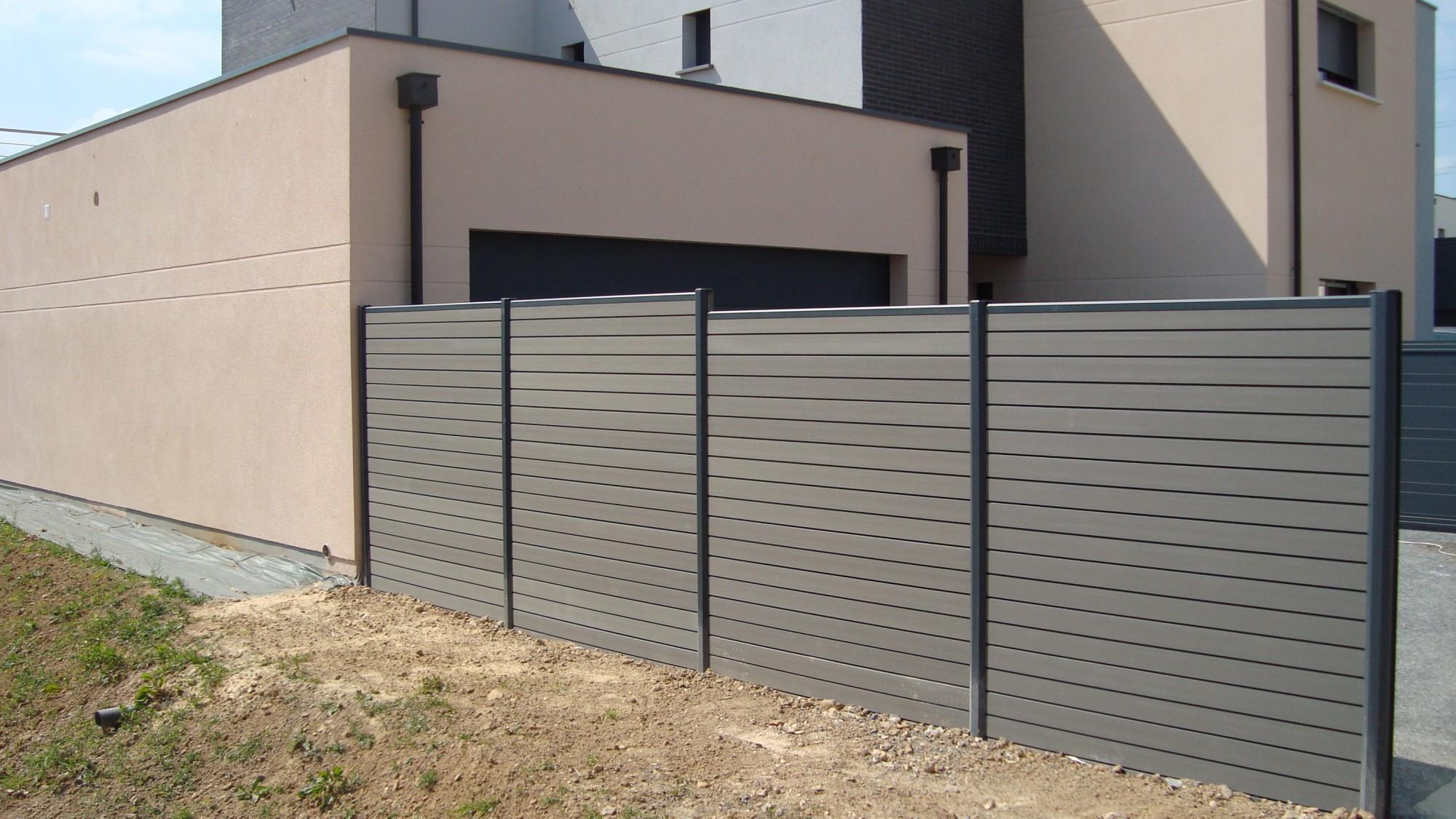 clôtures occultante en matériaux composite  clôtures bataille